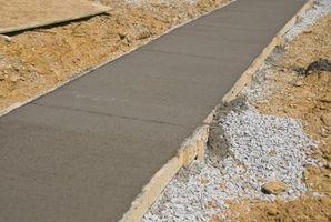 Hvordan å beregne hvor mye herdede betong Veier
