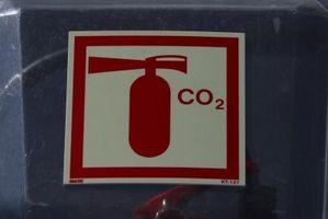 Hvilke forholdsregler bør utvises ved utlading en CO2 brannslukningsapparat og hvorfor er dette nødvendig?