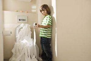 Reparasjoner for et toalett Leak