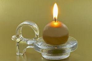 Slik fjerner Candle Wax Fra et Glass Globe