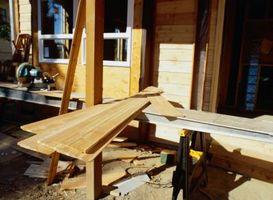 Hvordan Saw Landscape Timbers med et bord Saw