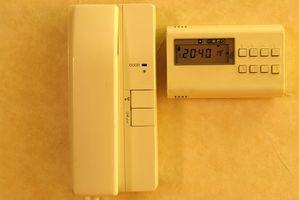 Hvordan jeg bytte ut en T87 med en programmerbar termostat Do?