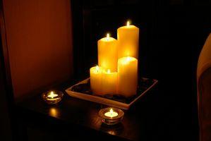 Slik fjerner Candle Wax Fra laminatgulv