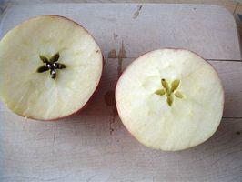 Hvordan epler vokser på trær?