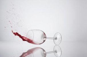 Rødvin på teppe